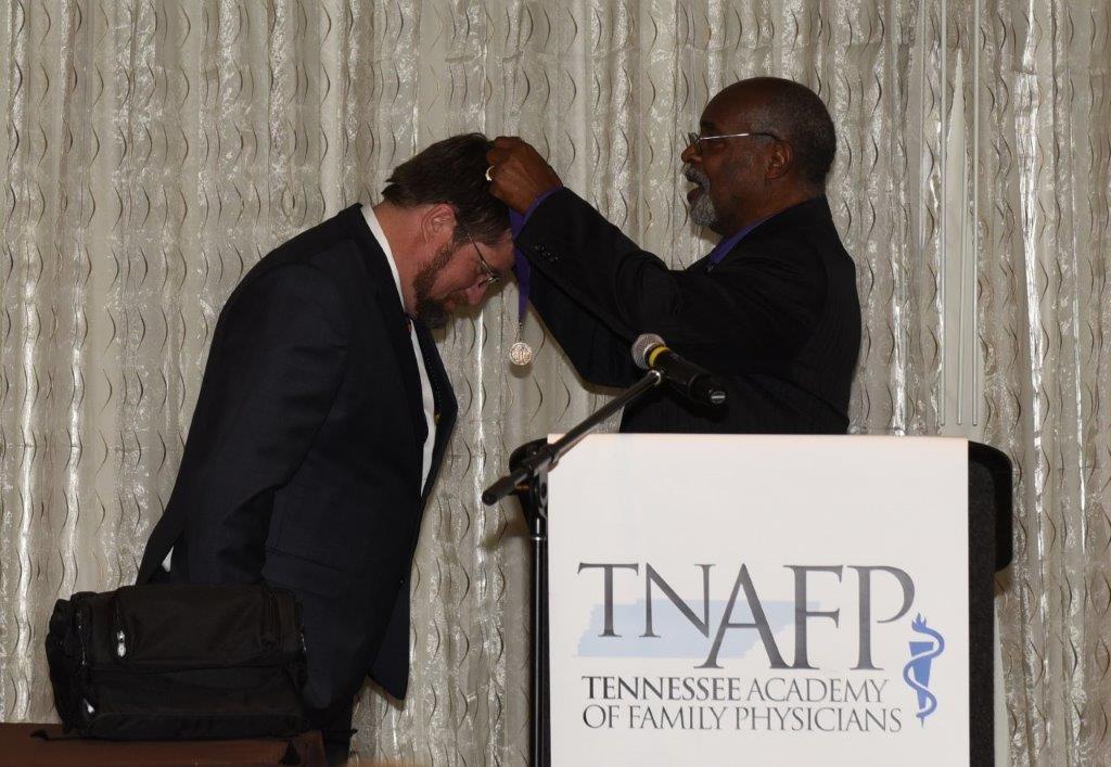 Fletcher Receiving Prez Medal from Jones