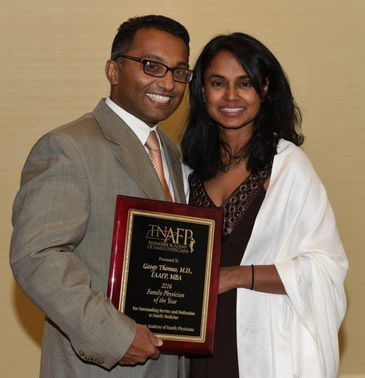 Geogy Thomas and wife FP of Year Award Tennessee Academy of Family Physicians