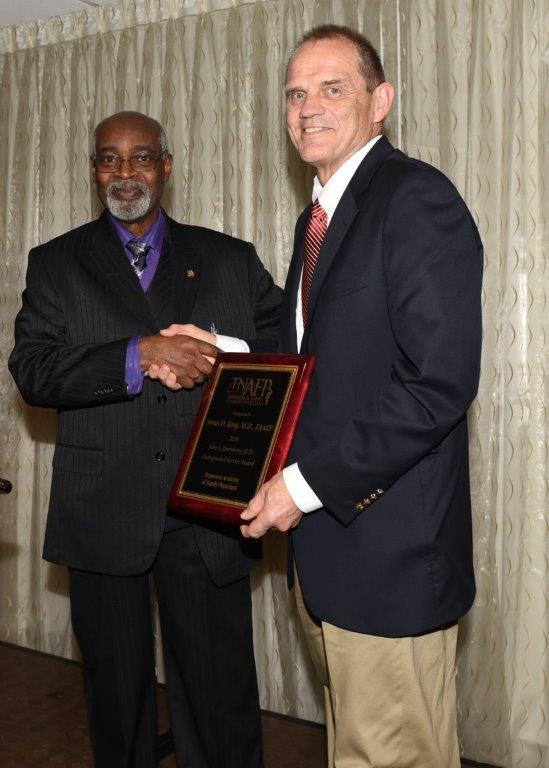 James King MD Distinguished Service Award By Jones