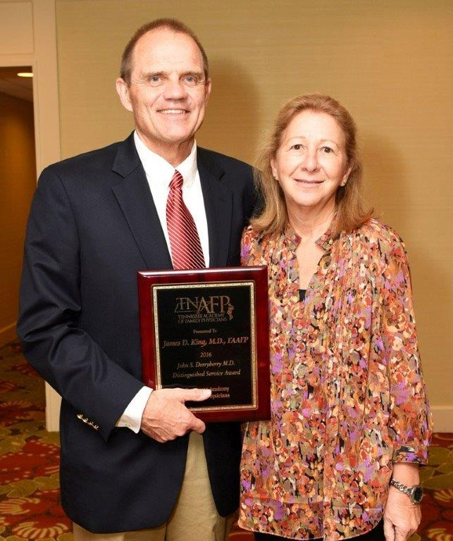 Jim and Sandra King Distinguished Award Tennessee Academy of Family Physicians
