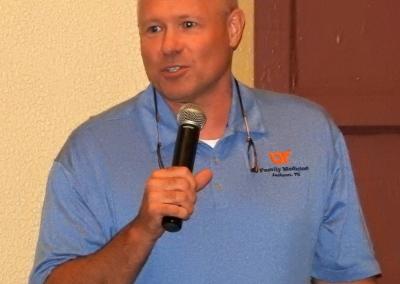 TNAFP Past President, Gregg Mitchell, M.D., Moderating at the TNAFP Dessert Reception