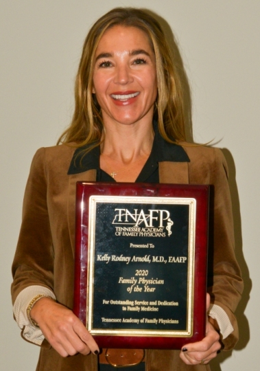 Kelly Arnold MD 2020 Tennesse AFP 2020 Family Physician of the Year Award Pic
